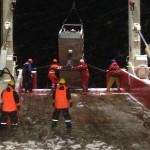 Deploying the epibenthic sled on the night shift.